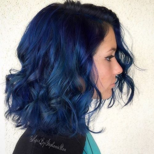 Curly Dark Blue Lob