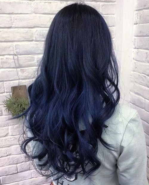 Blue Hair Color For Dark Hair