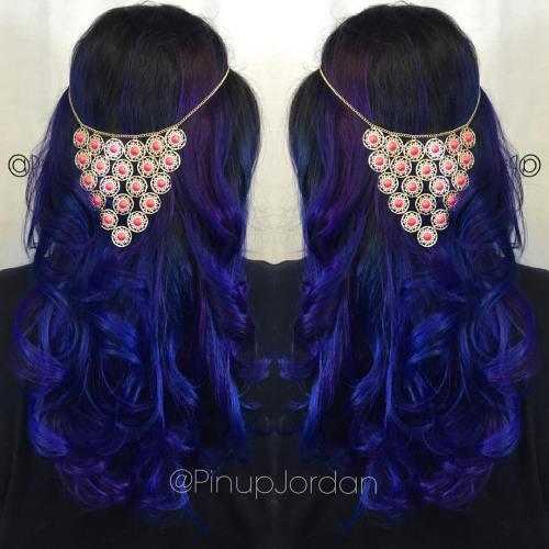 20 dark blue hairstyles that will brighten up your look