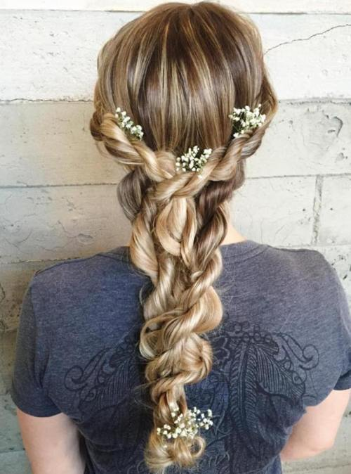 Crown Rope Braid Hairstyle