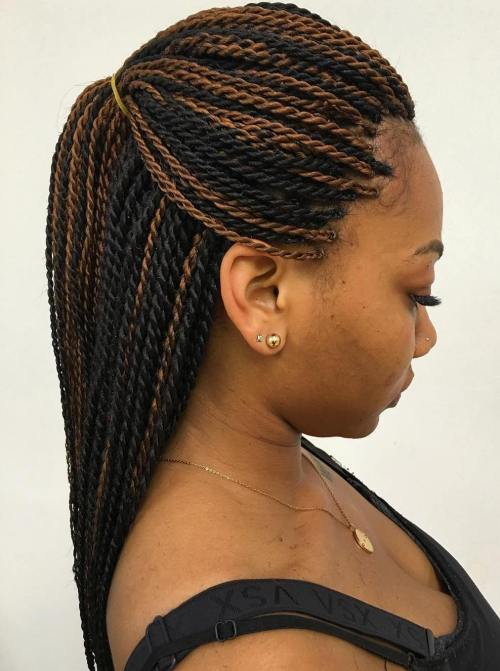 Black Rope Twists With Highlights
