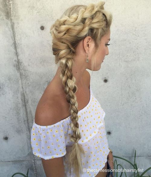 long hair side styles 20 inspiring ideas for rope braid styles 2892 | 3 side rope braid for long hair
