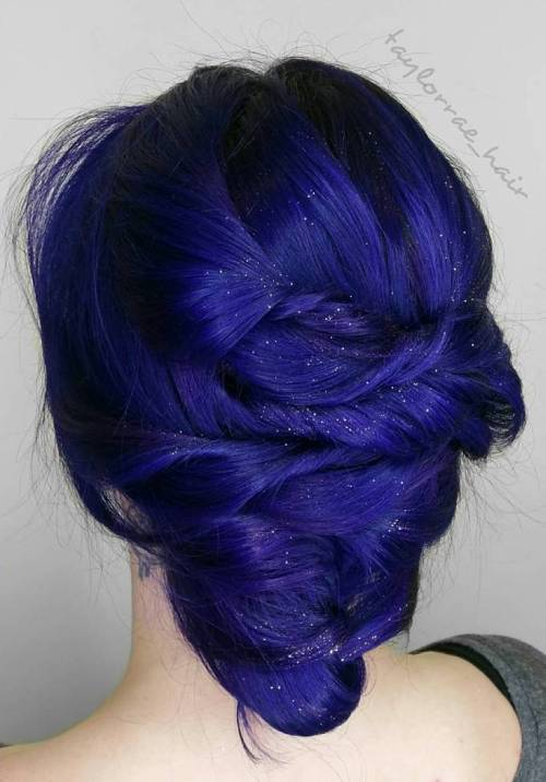 dark blue hairstyles