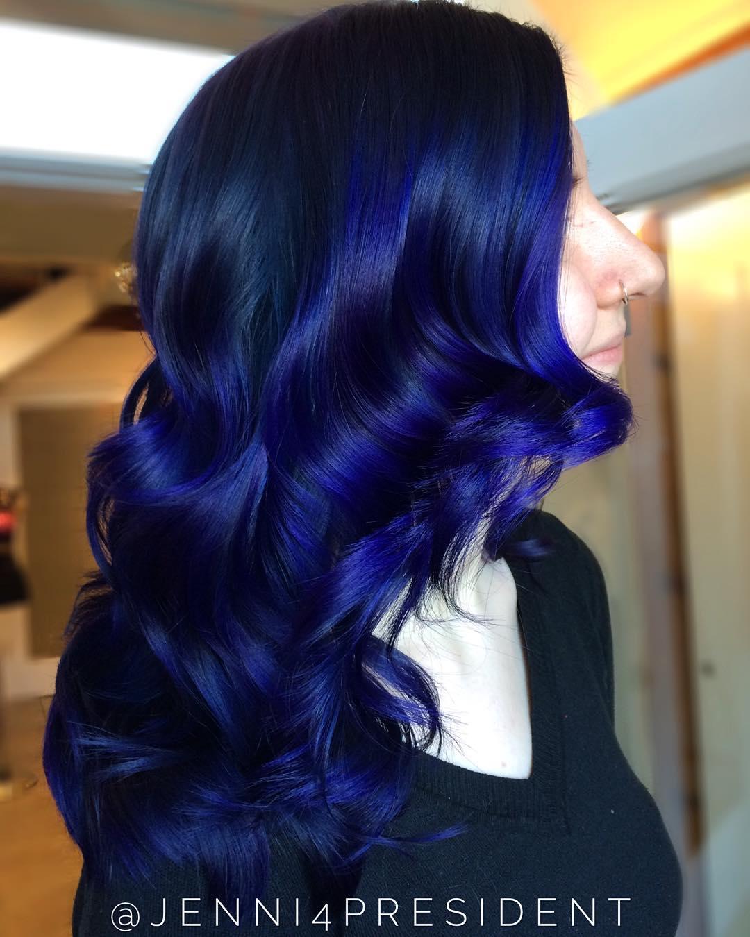 Dark Blue And Purple Hair Www Pixshark Com Images