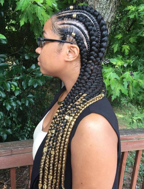 Long Two-Tone Ghana Braids