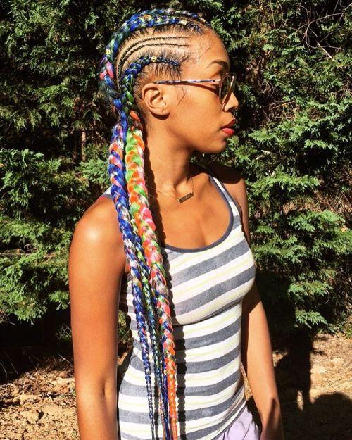 African American Yarn Braids