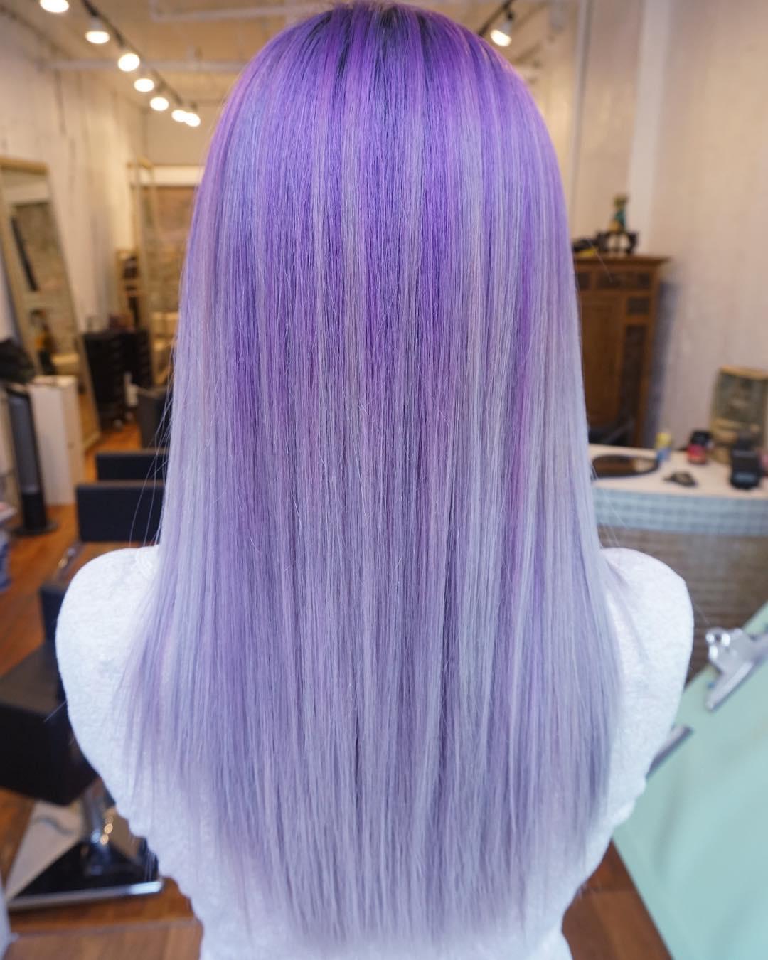 Superb Straight Purple Blonde Hair Nice Ideas