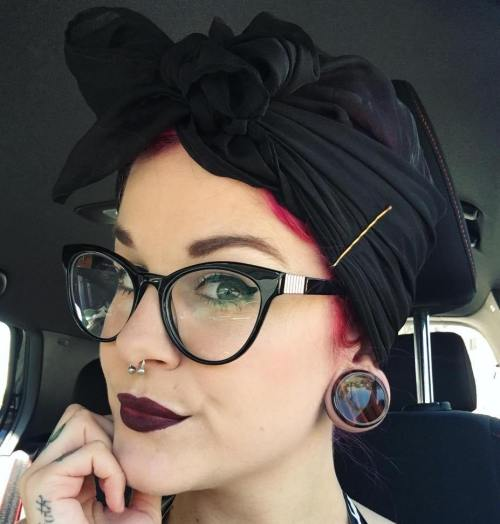 Updo With A Head Scarf