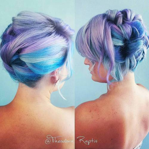 Pastel Purple And Blue Hair
