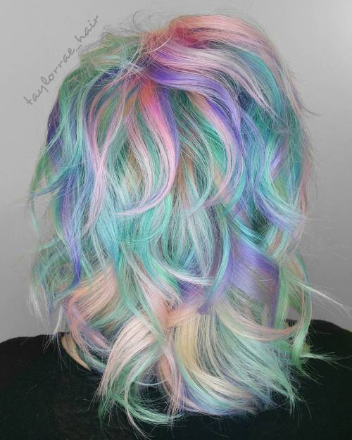 Medium Multi-Colored Pastel Hairstyle