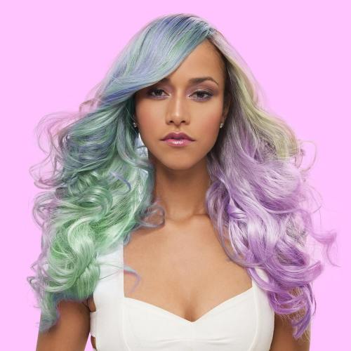 Long Pastel Hair Wig