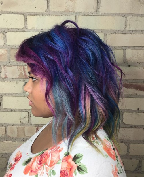 Medium Purple And Blue Hair