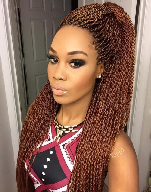 Long Caramel Brown Micro Twists