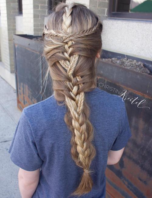 Creative Mermaid Braid For Long Hair