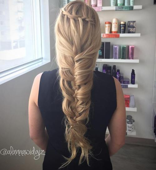 Loose Mermaid Braid For Long Hair