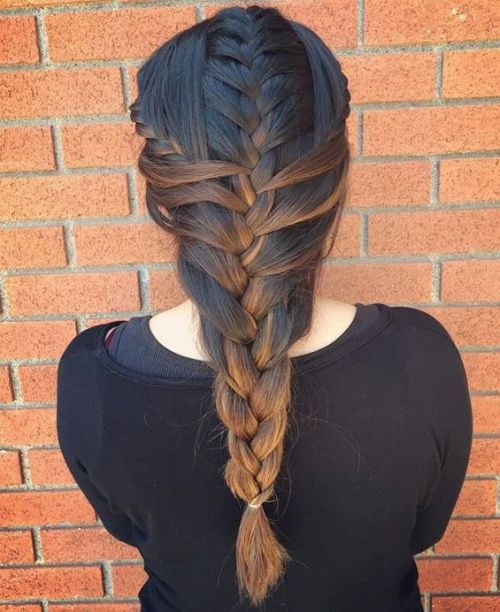 Mermaid Braid With Side Braids