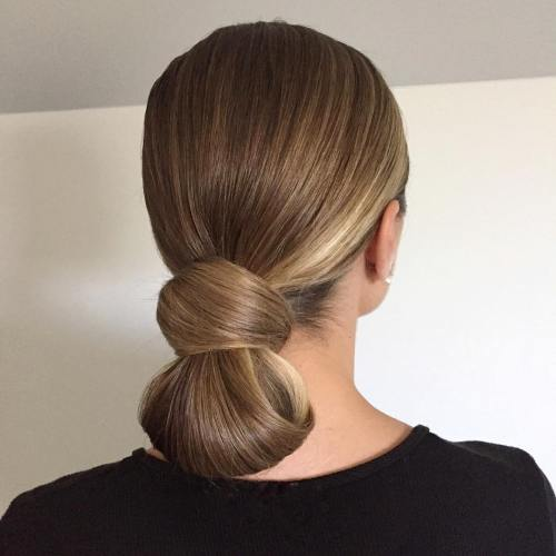 Sleek Low Knot Updo