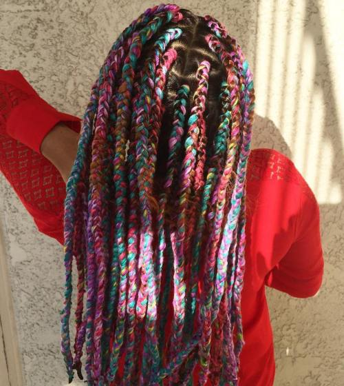 Melange Yarn Braids