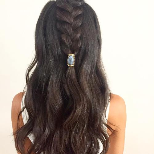Half Up Braid Hairstyle