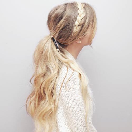 Messy Ponytail With A Braid