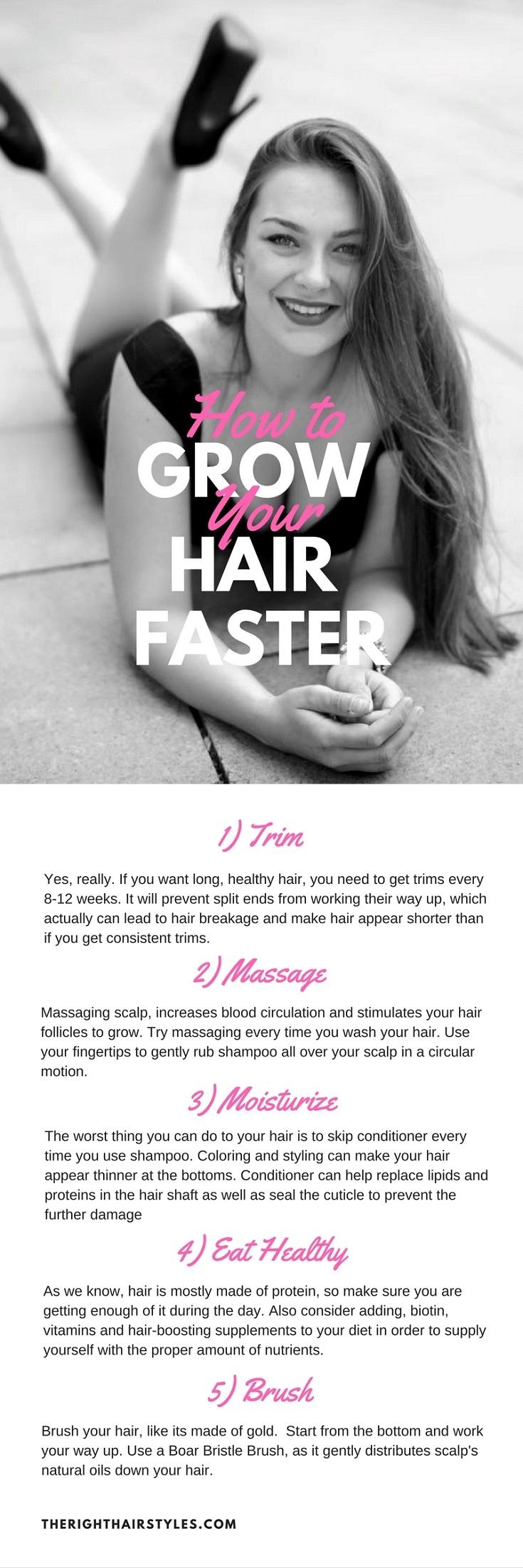 pousser faire comment cheveux