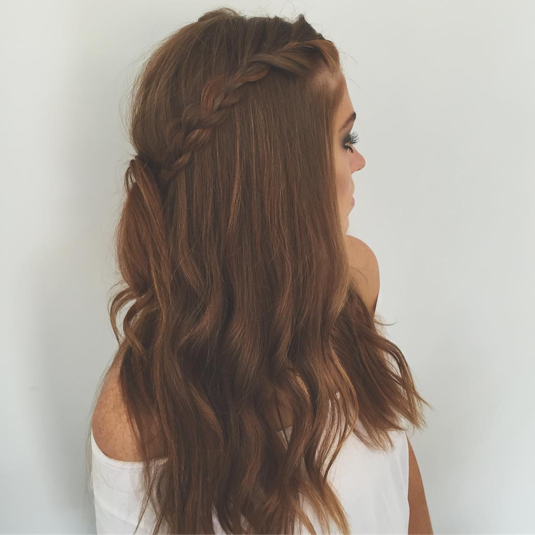 Braided Half Updo For Long Hair