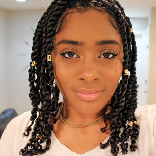 Kinky Twists With Beads