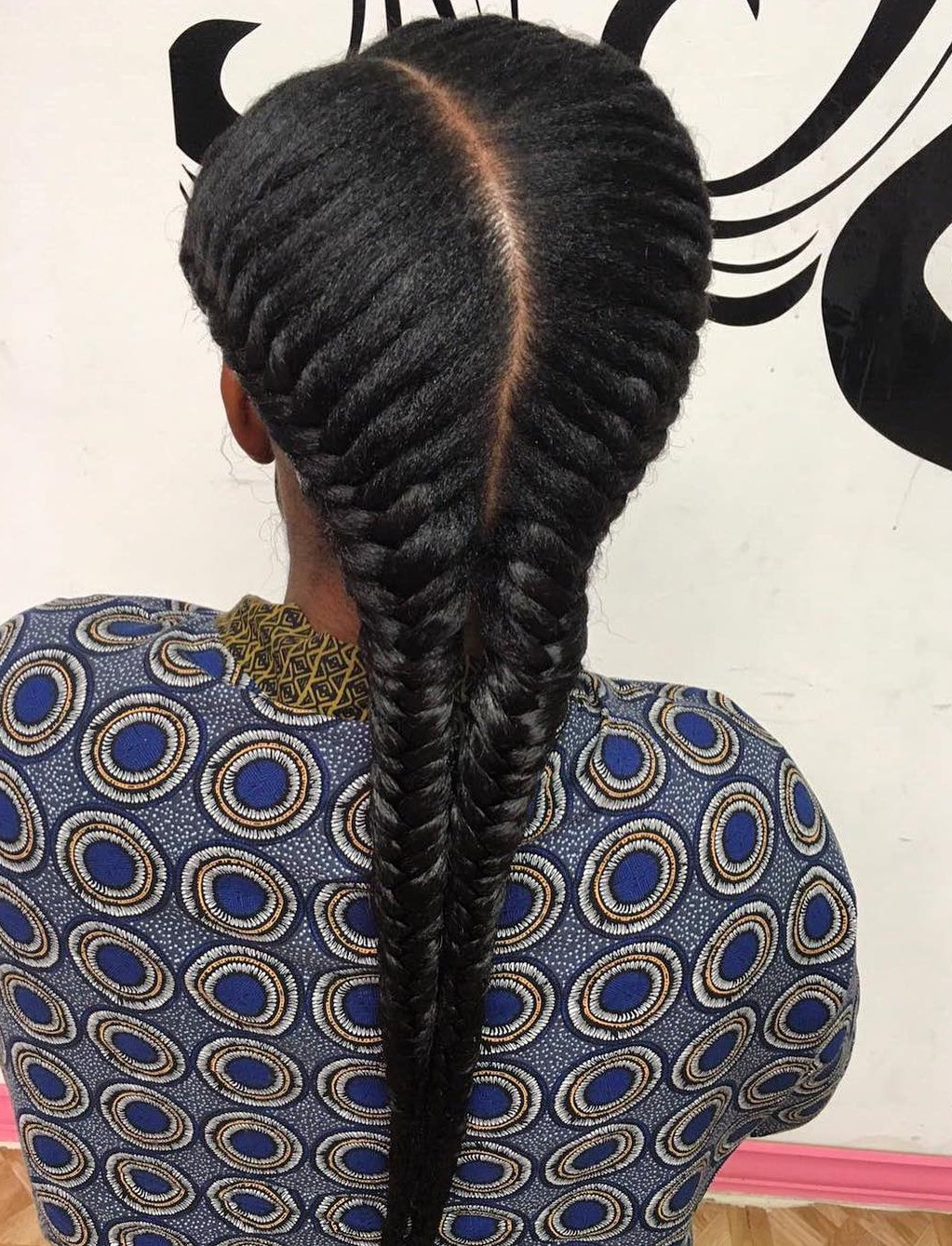Fishtail Pigtails For Natural Hair