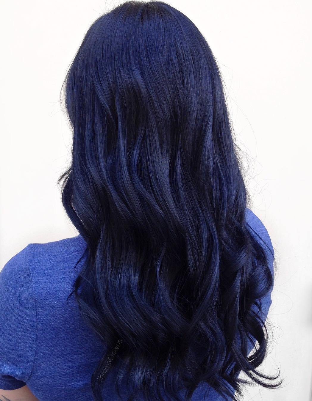 Jet hair black with blue tint