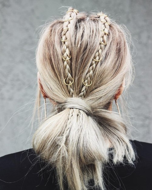 Low Knot With Two Braids