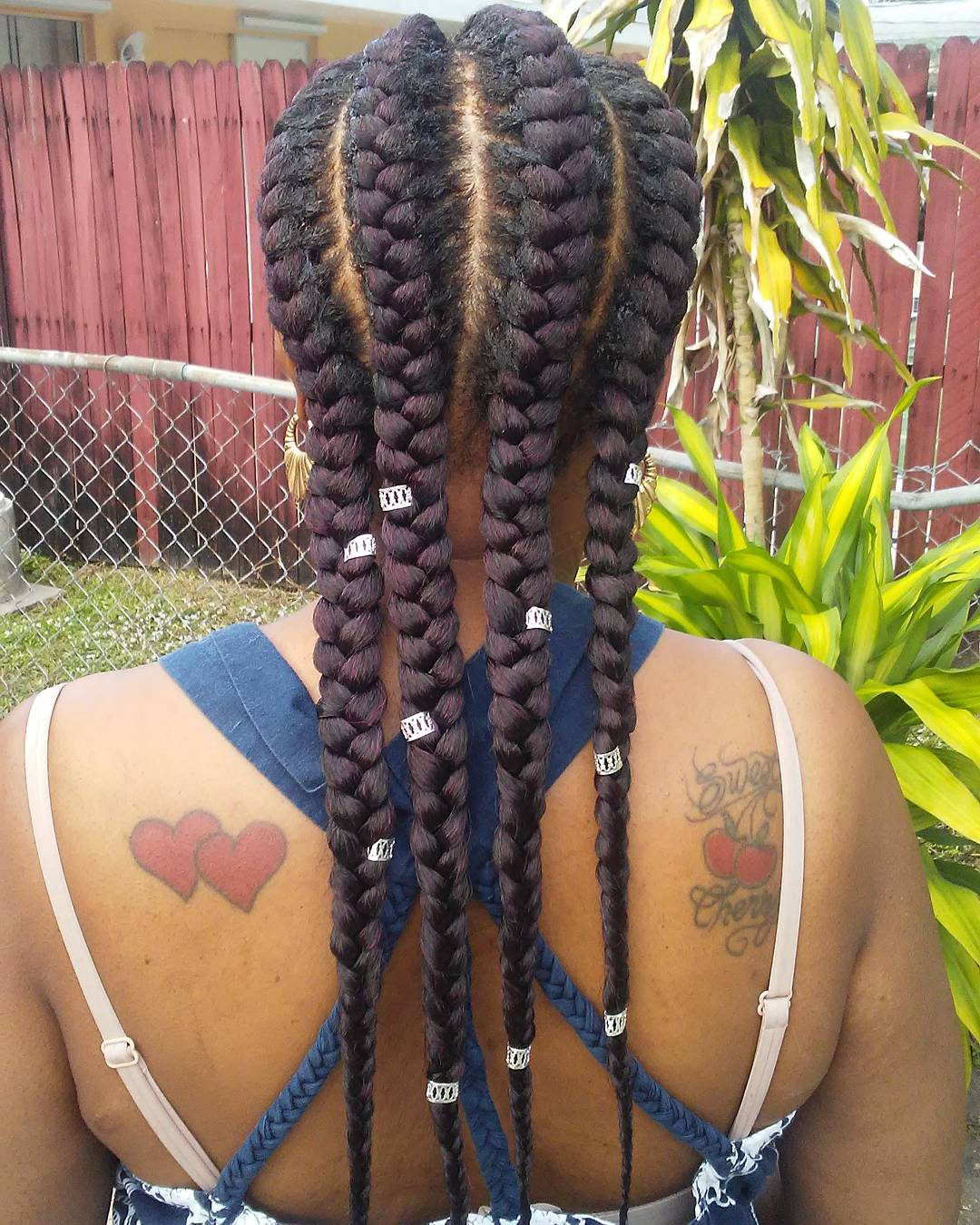 Four Thick Under Braids