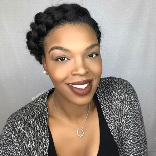 African American Halo Braid Updo