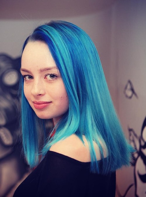 30 Icy Light Blue Hair Color Ideas for Girls - photo #19
