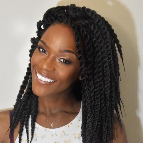 Lack Mid-Length Twist Braids