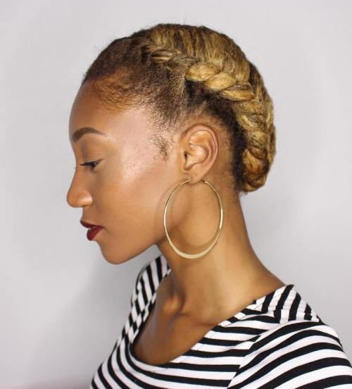 twisted natural hair