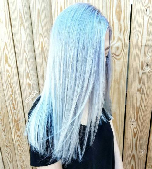 30 Icy Light Blue Hair Color Ideas for Girls - photo #6