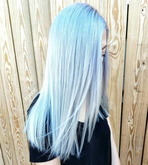 icy light blue hair color ideas