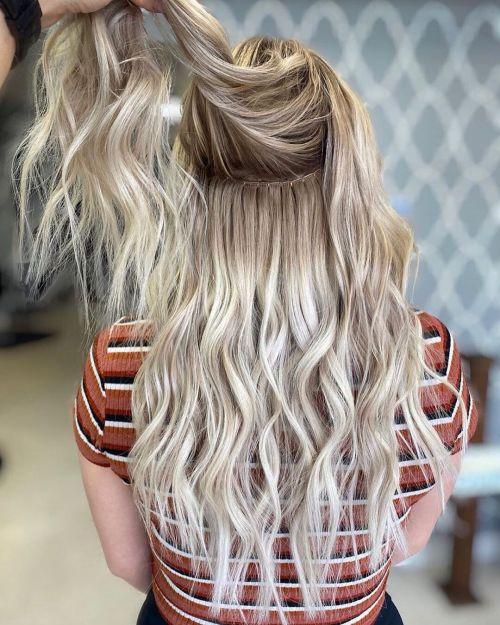 Tecer extensões de cabelo