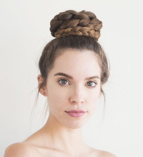 high braided bun