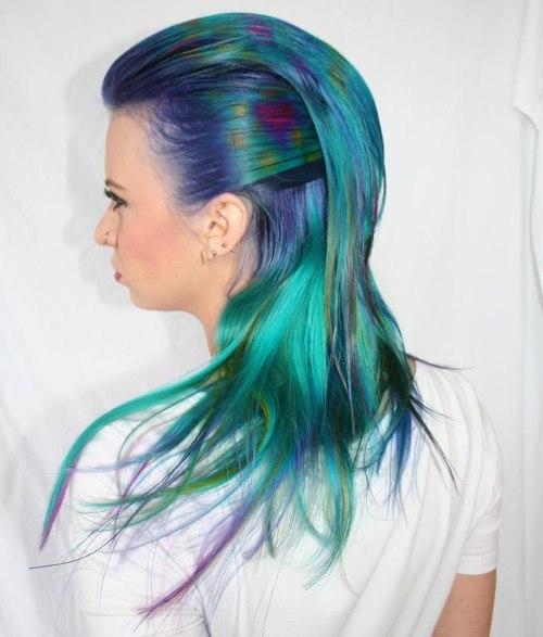 Teal And Blue Mermaid Hair