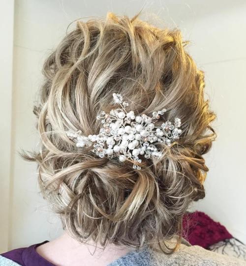 Wedding Hair Updo Messy: Top 20 Wedding Hairstyles For Medium Hair