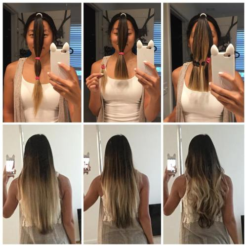 Front Ponytail Method to Cut Your Hair in Layers