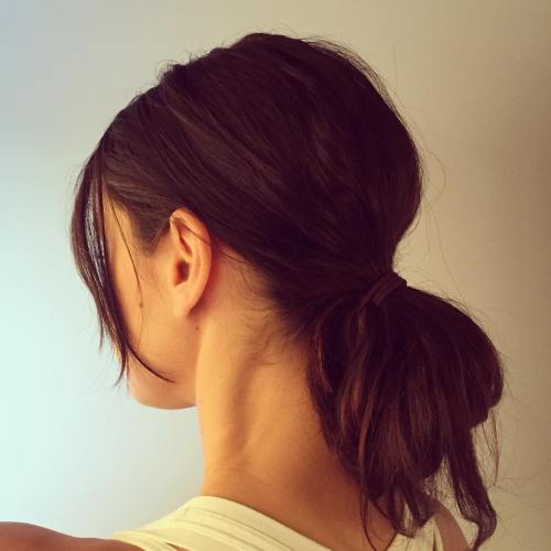 looped ponytail