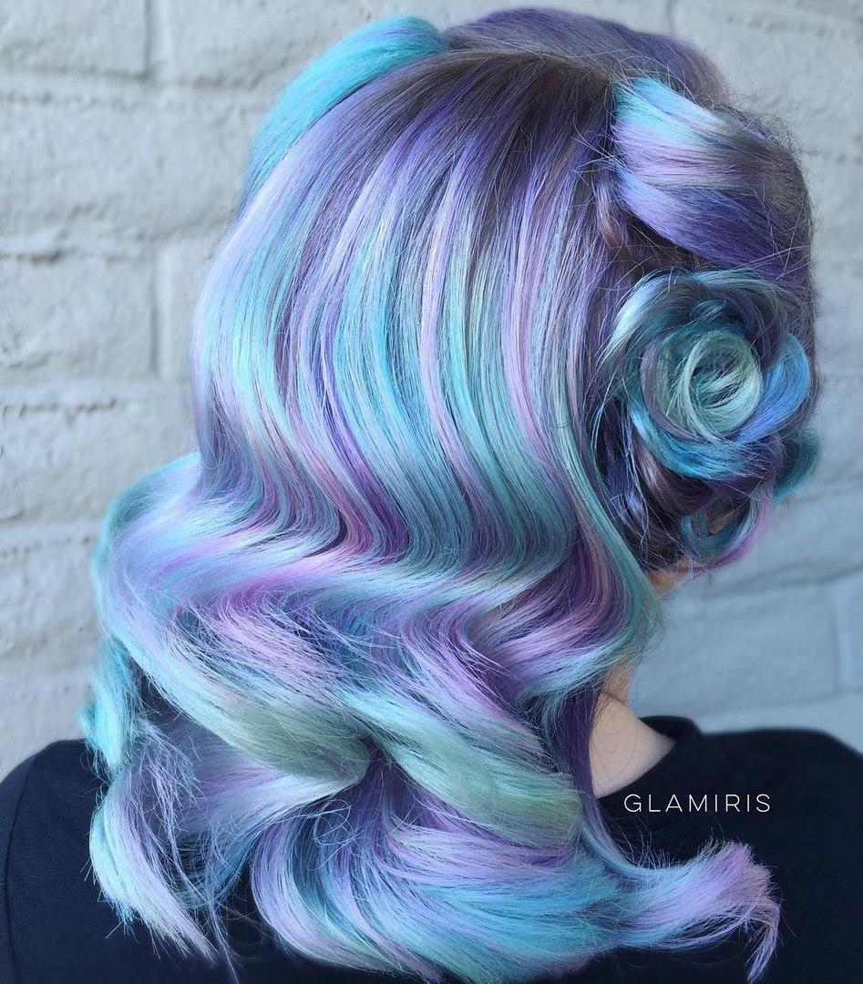 purple and blue hair tips wwwpixsharkcom images