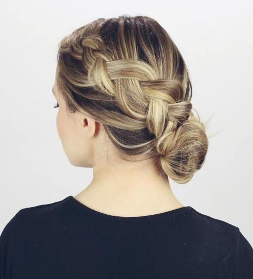 low braided bun