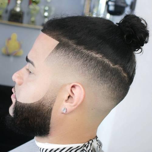Man Bun For Wavy Hair