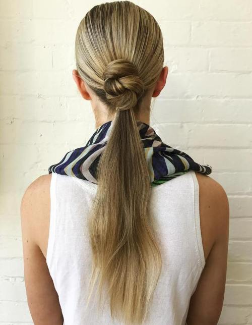 Low Ponytail With A Bun