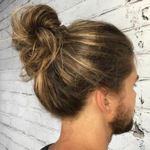 Man Bun For Long Thick Hair