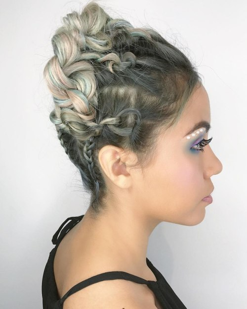 Braided And Knotted Updo