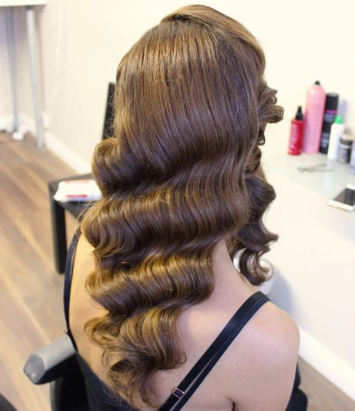 Finger Waves For Long Hair